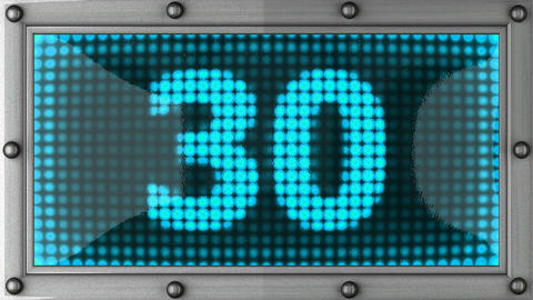 count down announcement on the LED display Stock Video Footage
