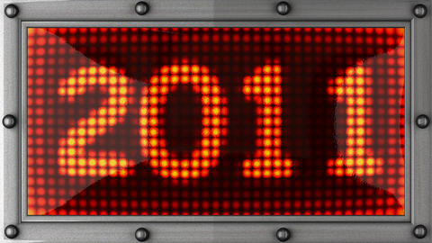 2011 announcement on the LED display Stock Video Footage
