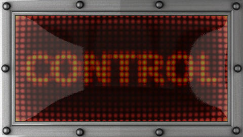 control announcement on the LED display Stock Video Footage