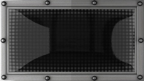 Exclamation mark announcement on the LED display Animation