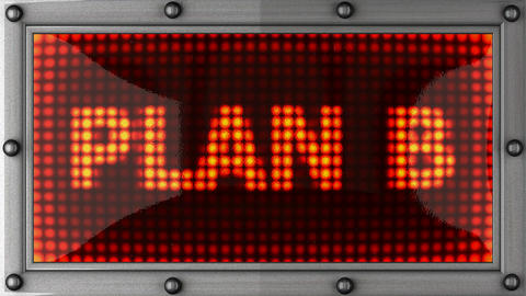 plan B announcement on the LED display Stock Video Footage