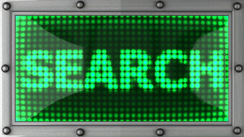 search announcement on the LED display Animation