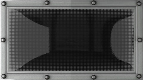 wanted announcement on the LED display Stock Video Footage