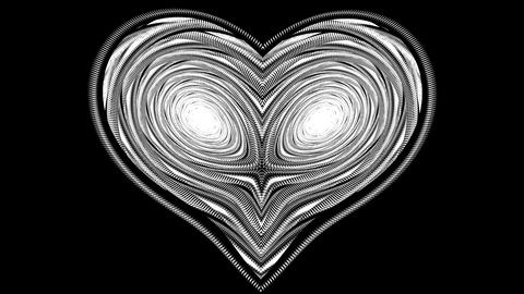 Pulse of love. With alpha channel Stock Video Footage