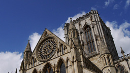 View Of York Minster stock footage