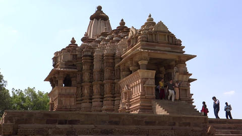 Khajuraho Temple, UNESCO World Heritage Site stock footage