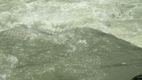 Whitewater Slow Motion 03 stock footage