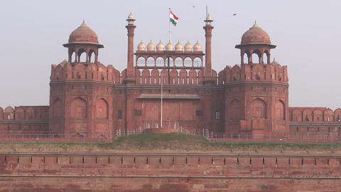 Red Fort , Delhi, UNESCO world heritage site Live Action
