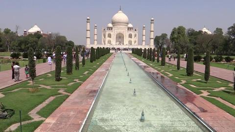 Taj Mahal, UNESCO World Heritage Site stock footage