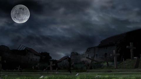 Scary graveyard Animation