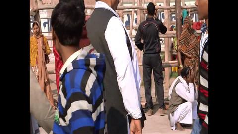 Allahabad Kumbh Fair 2013 Timelapse stock footage