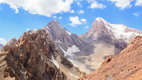 Clouds over the pass. Chimtarga, Fans, Tajikistan Footage