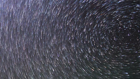 Traces Of The Stars. Zoom. Time Lapse. 1280x720 stock footage