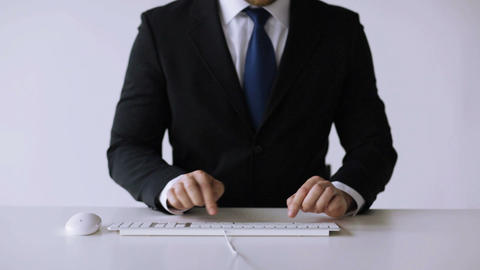 businessman hands typing on keyboard Footage