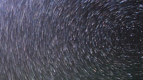 Traces Of The Stars. Zoom. Time Lapse stock footage