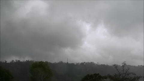 Black Clouds And Rainning Timelapse stock footage