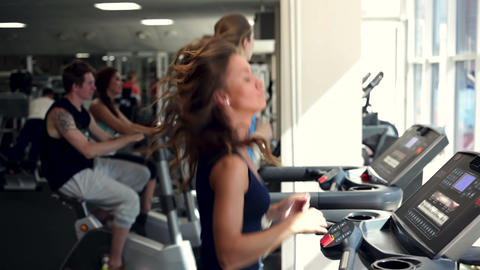 Training in a Gym Footage