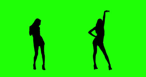 Dancing On Green Screen stock footage