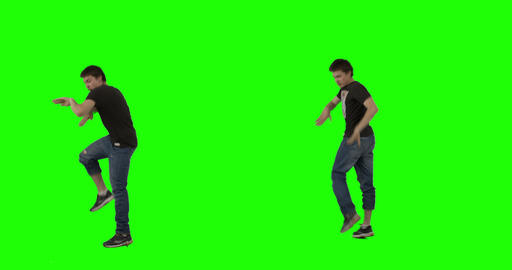 Crazy Dance on Green Screen Footage