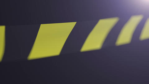 Black And Yellow Caution Tape. Shallow Depth Of Fi stock footage