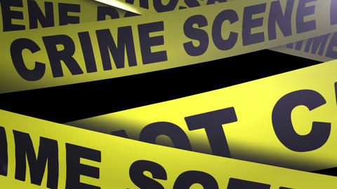 Crime Scene - Do Not Cross Tape. Loopable. Matte I stock footage
