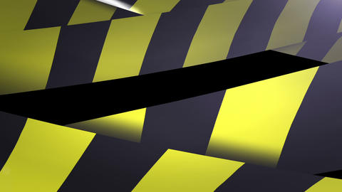 Under construction Yellow and Black Caution tape Footage