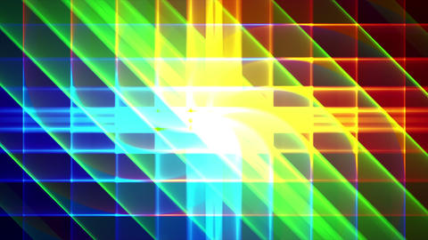 4K Prismatic grid star abstract background d4 Animation