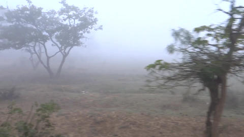 Foggy Highway And Driving stock footage