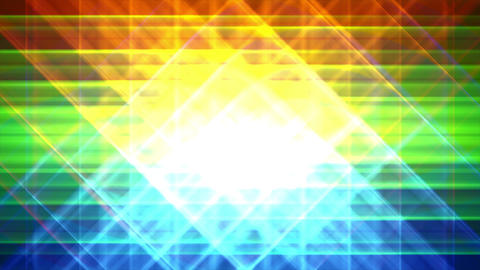 4K Prismatic grid star abstract background loop a2 Animation