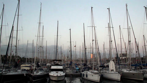 Several small yachts inline Footage