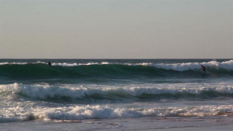 Series of waves rushing to the shoreline seawater  Footage