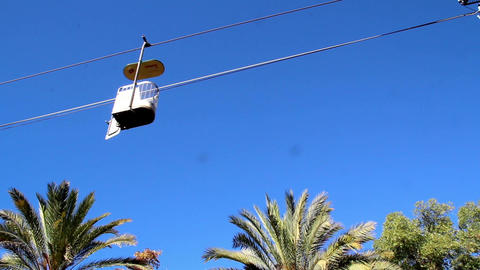 Series of cable car view of a cable cars running Footage