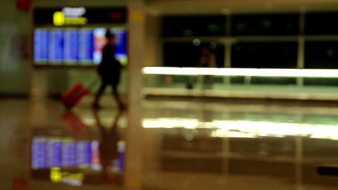 A crowd-less scene on a terminal Footage