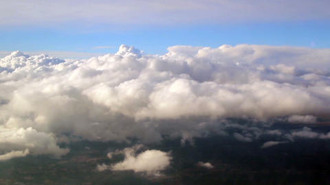 View above the clouds Footage