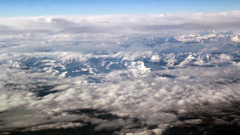 Cloud Formations Above The Mountains Thin Clouds A stock footage