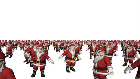 Dancing Santa Claus Crowd Loop Animation