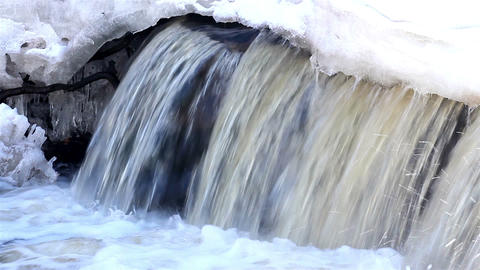 A rapid rushing of water Footage
