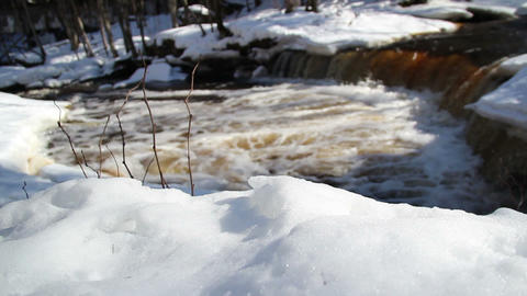 A view of a rapid water on the stream Footage