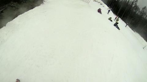 People are enjoying the ski Footage