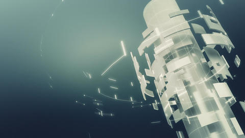 loopable footage of metal gird background spinning Animation