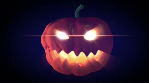 Halloween Pumpkin Glow In The Dark stock footage