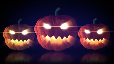 halloween pumpkin glow in the dark Animation
