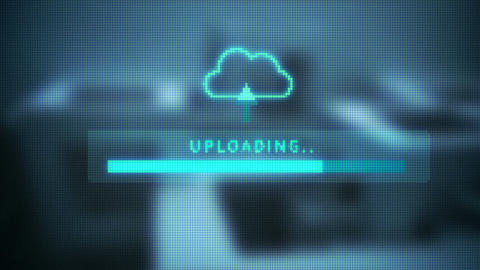 Upload Screen Progress Bar stock footage
