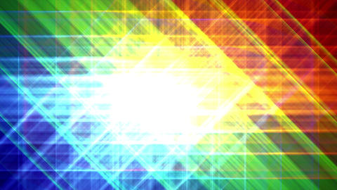 4K Prismatic grid star abstract background RGB b2 Animation