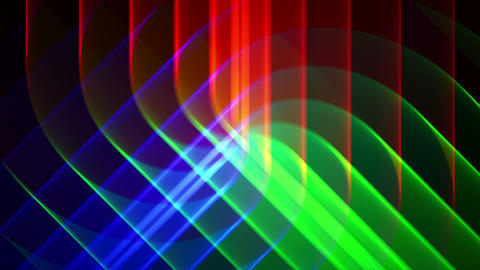 4K Prismatic RGB tri star abstract background 4 Animation