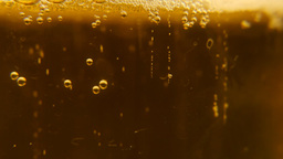 Beer bubbles dissolve Footage