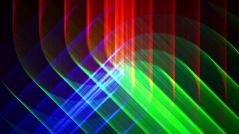 4K Prismatic RGB tri star abstract background 3 Animation