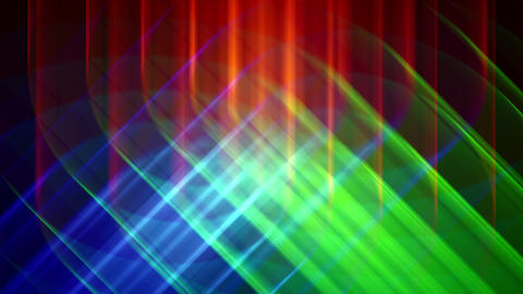 4K Prismatic RGB tri star abstract background 2 Animation