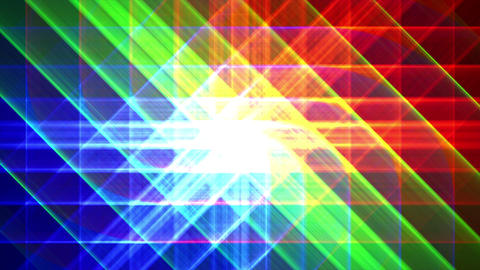 4K Prismatic grid star abstract background RGB b1 Animation