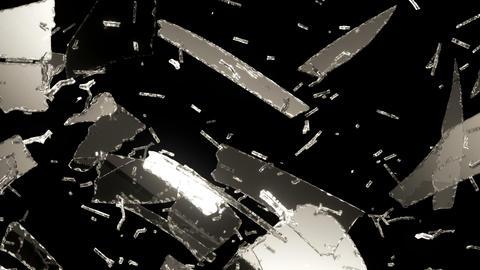 Glass broken or shattered slow motion. Alpha Animation